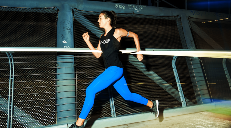 Power up your workout at night with the WHOOP reflective series.
